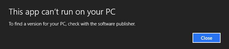 This app can't run on your PC. To find a version that runs with your PC check with the publisher