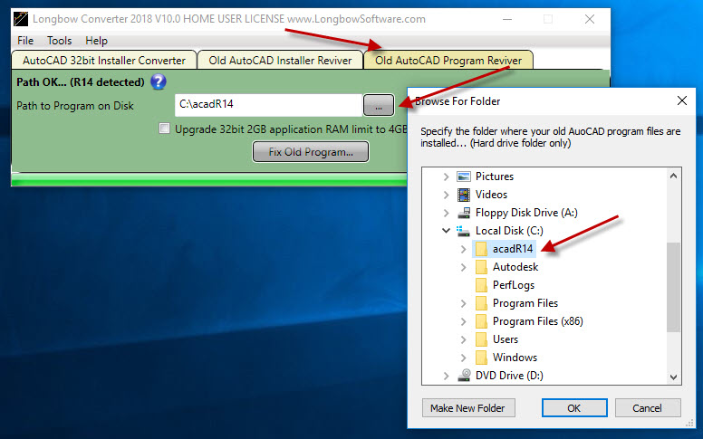 Fixing the newly installed program files with the Converter