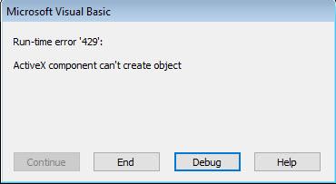 LandXML Export - Run-time error '429' ActiveX component can't create object