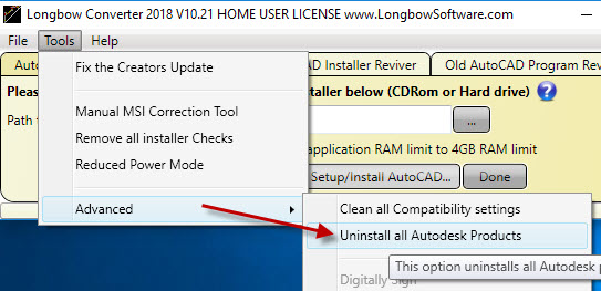 Uninstalling all Autodesk Products from your Computer | Longbow